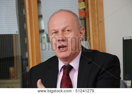 TENTERDEN, ENGLAND - SEPTEMBER 17: Rt.Hon. Damian Green, Minister of State for Police and Criminal Justice and Conservative MP, attends a constituency meeting on September 17, 2013 in Tenterden, Kent.