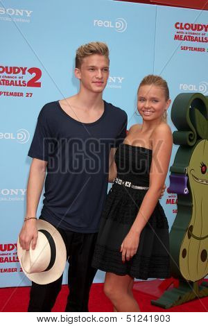 LOS ANGELES - SEP 21:  Cody Simpson, Ali Simpson at the