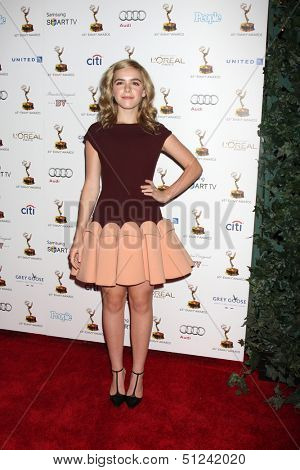 LOS ANGELES - SEP 20:  Kiernan Shipka at the Emmys Performers Nominee Reception at  Pacific Design Center on September 20, 2013 in West Hollywood, CA