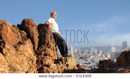 Man Enjoying The View