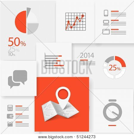 Infographic information board design template