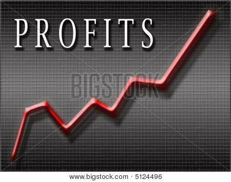 Gráfico de líneas de ganancias