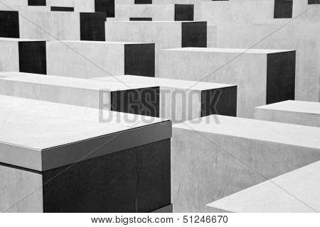 Memorial to the Murdered Jews of Europe. The Holocaust Memorial in Berlin, Germany