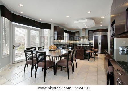 Kitchen With Dark Paneling
