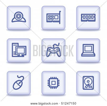 Computer web icons, light violet glossy buttons