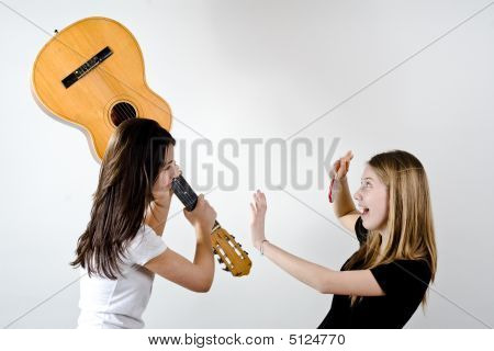 Fighting With A Guitar
