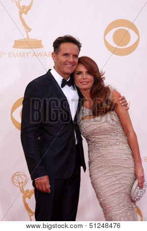 LOS ANGELES - SEP 22:  Mark Burnett, Roma Downey at the  at Nokia Theater on September 22, 2013 in Los Angeles, CA
