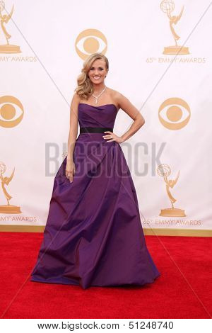 LOS ANGELES - SEP 22:  Carrie Underwood at the 65th Emmy Awards - Arrivals at Nokia Theater on September 22, 2013 in Los Angeles, CA