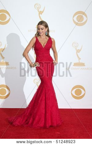 LOS ANGELES - SEP 22:  Sofia Vergara at the 65th Emmy Awards - Press Room at Nokia Theater on September 22, 2013 in Los Angeles, CA