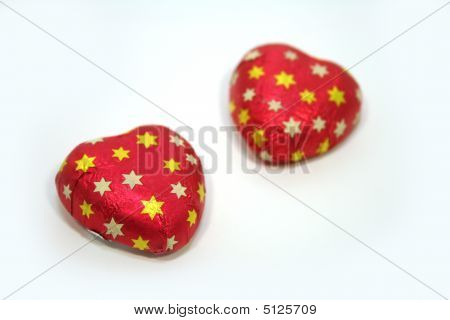 A pair of chocolate candy