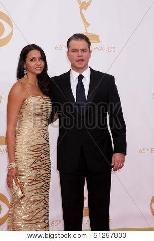 LOS ANGELES - SEP 22:  Matt Damon at the  at Nokia Theater on September 22, 2013 in Los Angeles, CA