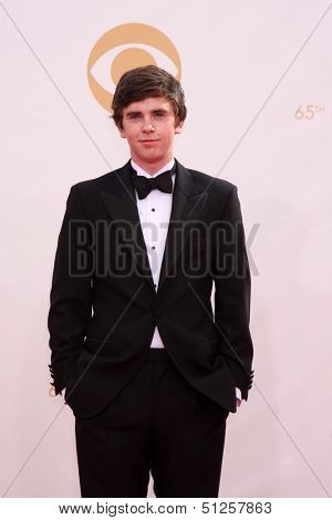 LOS ANGELES - SEP 22:  Freddie Highmore at the  at Nokia Theater on September 22, 2013 in Los Angeles, CA