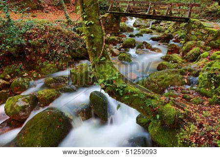 river waterfall in the portuguese national park of Geres, in the north of the country