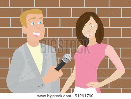 News Reporter Man