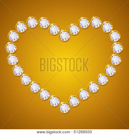 vector diamond heart