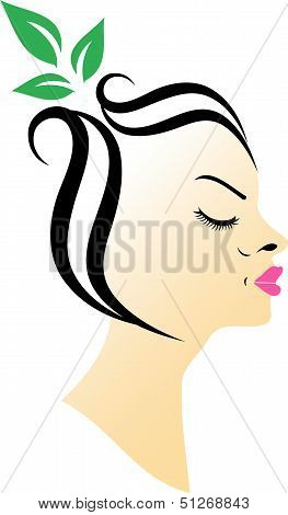 Abstract woman- icon concept for ladies parlor