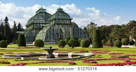 Palmenhaus At The Imperial Garden Of Schoenbrunn