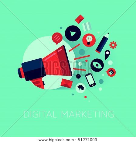Digitales Marketing-Konzept-Illustration