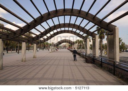 Promenade In Barcelona, Spain