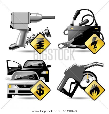 Automobile Service Icons