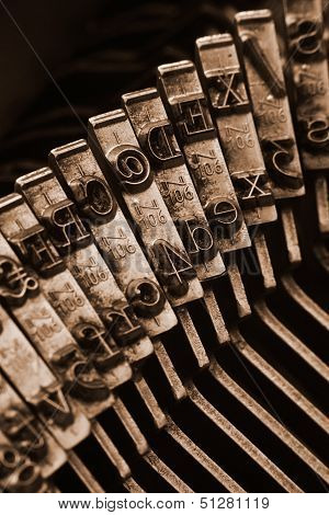 Traditional Typewriter Letterpress Arms