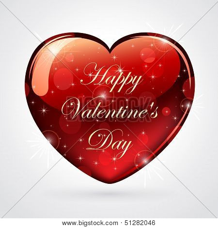 Corazón brillante día de San Valentín