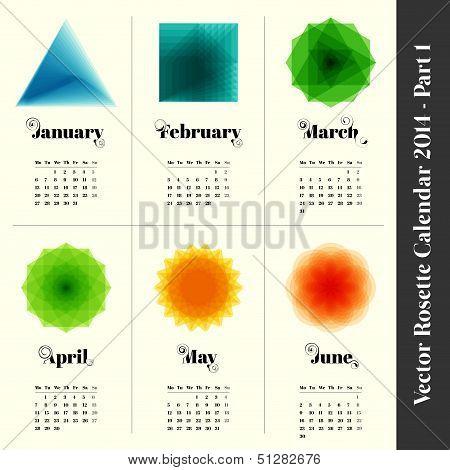 colorful calendar 2014, part 1