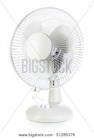 Electric fan isolated on white