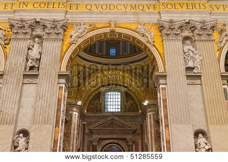 Inside Of St. Peter's Basilica