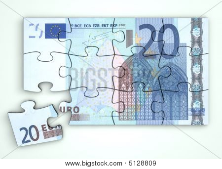 20 Euro Note Puzzle - Top View