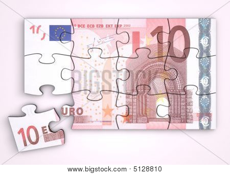 10 Euro Note Puzzle - Top View