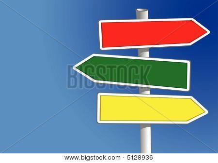 Sing Post Three Arrows (vector)
