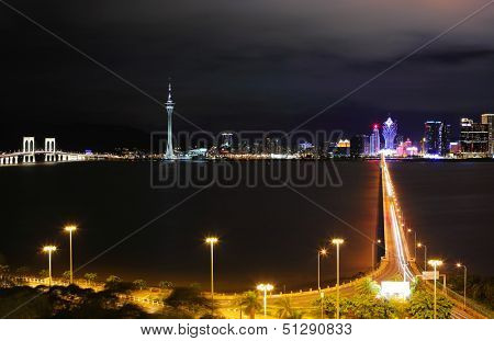 Macau city at night