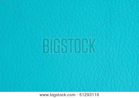 Turquoise Faux Leather Background Texture
