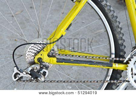 Back Wheel Of A Bike