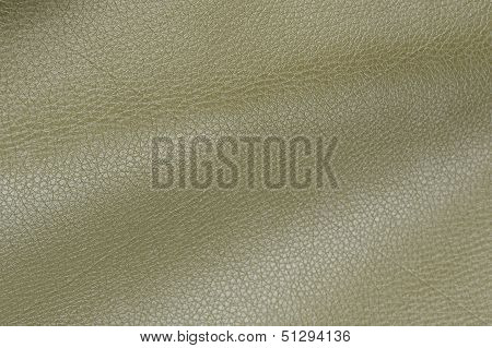 Olive Glossy Artificial Leather Texture