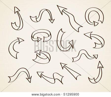 Doodle Vector Arrows