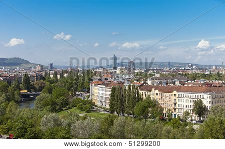 Skyline Danube Valley Vienna