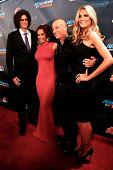 NEW YORK-SEP 11: (L-R) Judges Howard Stern, Mel B., Howie Mandel & Heidi Klum attend pre-show red ca
