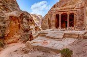 stock photo of empty tomb  - Garden Tomb in Petra - JPG
