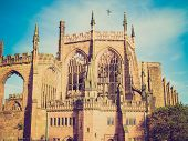 picture of church-of-england  - Vintage looking St Michael Cathedral church Coventry England UK - JPG