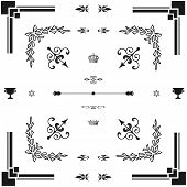 Vector Set Of  Decorative Horizontal Floral Elements..