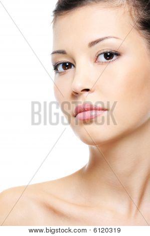 Attractive Serene Asian Female Face