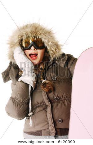 Shocked Snowboarder