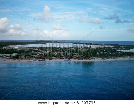 Wide view of Grand Turk beach