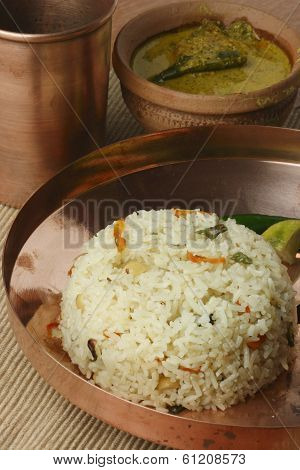 Ghee Bhatt - An Indian rice dish from India