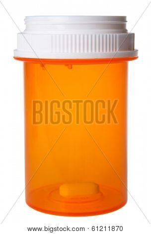 Pill Bottle with One Pill Left