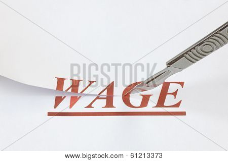 A Cut In Wages
