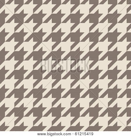 Houndstooth vector seamless pastel brown pattern or background