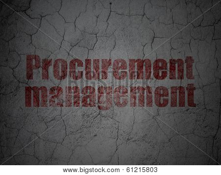 Finance concept: Procurement Management on grunge wall background